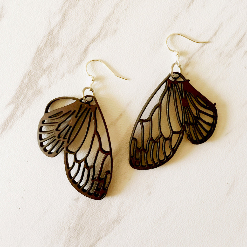 Coconut Butterfly Earrings. A must have for any nature lover.