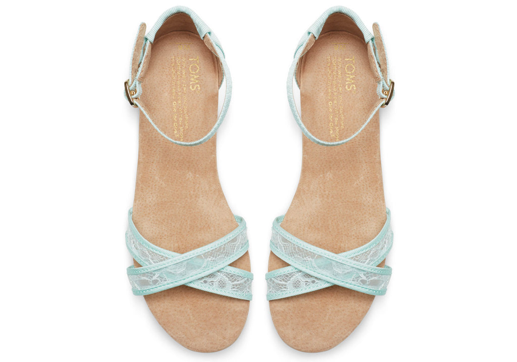 LIGHT BLUE LACE WOMEN'S CORREA SANDALS - SustainTheFuture.us - The Natural and Organic Way of Life