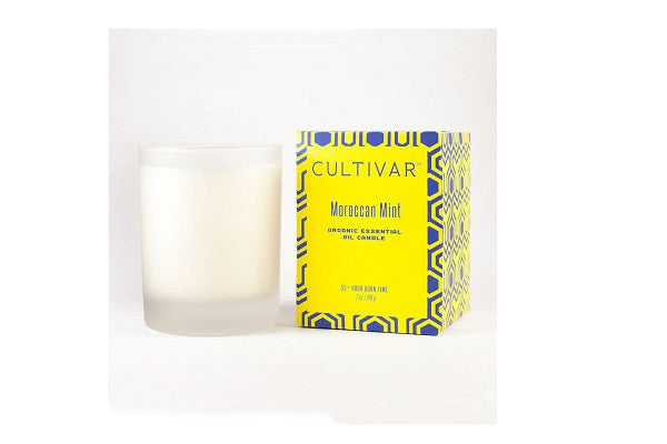 Moroccan Mint Soy Candle - Essential Oil Candle is clean-burning and long-lasting