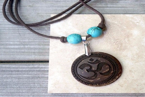 YOGA OM NECKLACE. OM is the ultimate symbol of yoga and meditation.