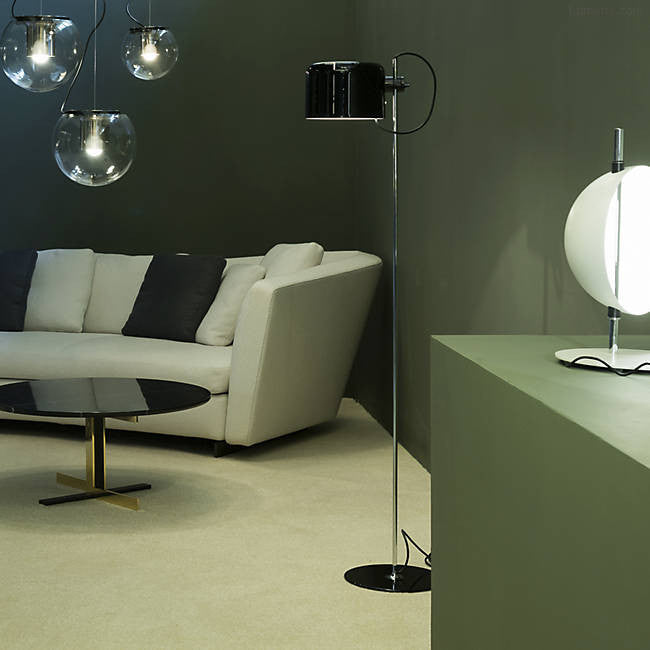 Coupe Floor Lamp By Joe Colombo for Oluce