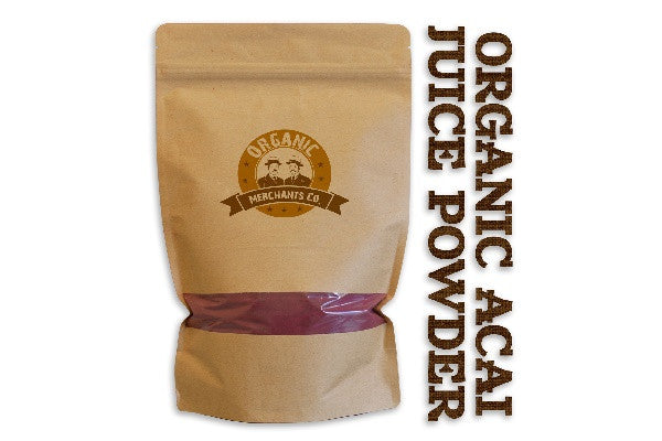 Organic Acai Juice Powder -  2lb Package - Kosher, NON GMO, Gluten Free, Vegan