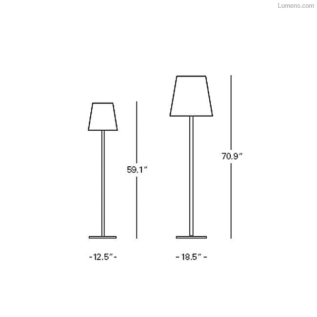 3247 Floor Lamp By Archivio Storico for FontanaArte