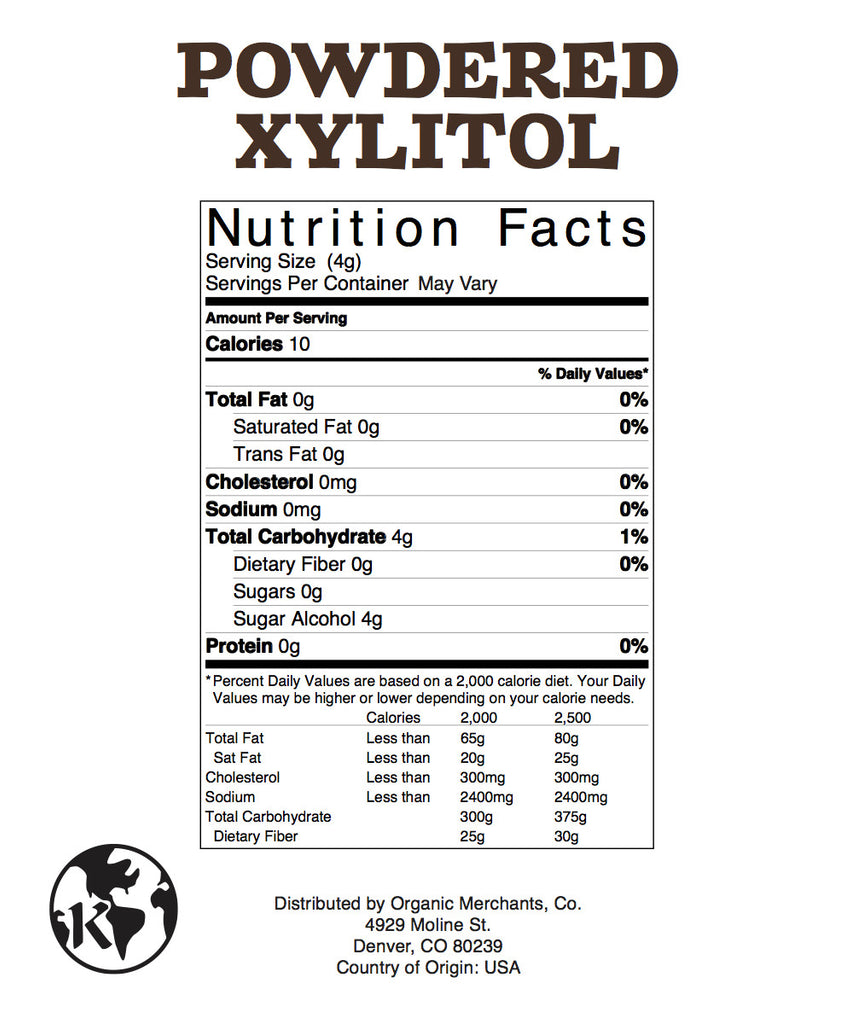 USA Birch Xylitol - 55lb Bag - Kosher, NON GMO, Gluten Free