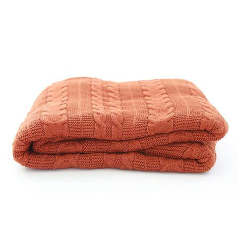 Limited Edition Pumpkin Throw - Grown and woven in Fair Trade certified farms and mills - SustainTheFuture.us - The Natural and Organic Way of Life