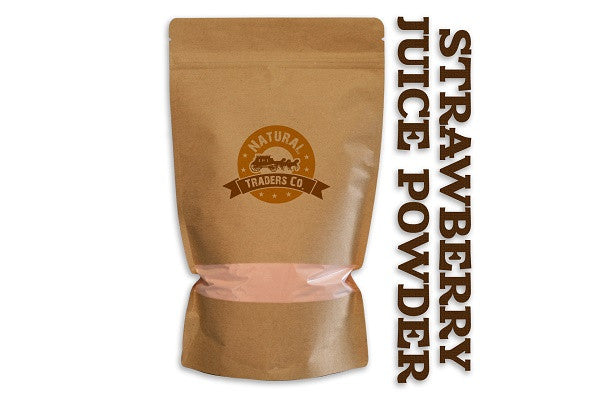 Natural Strawberry Juice Powder - 8oz Package - Kosher, NON GMO, Gluten Free, Vegan - SustainTheFuture.us - The Natural and Organic Way of Life