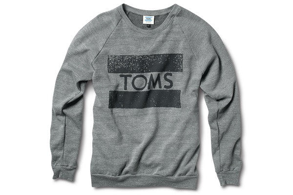 TOMS CREW NECK SWEATSHIRT