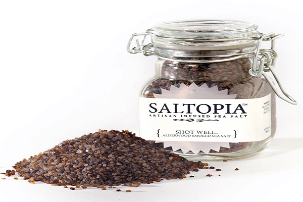 Alderwood Smoked Infused Sea Salt SALTOPIA - SustainTheFuture.us - The Natural and Organic Way of Life