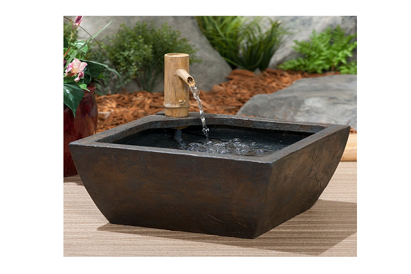 Aquascape 78197 Aquatic Patio Pond Water Garden with Bamboo Fountain, 16-Inch