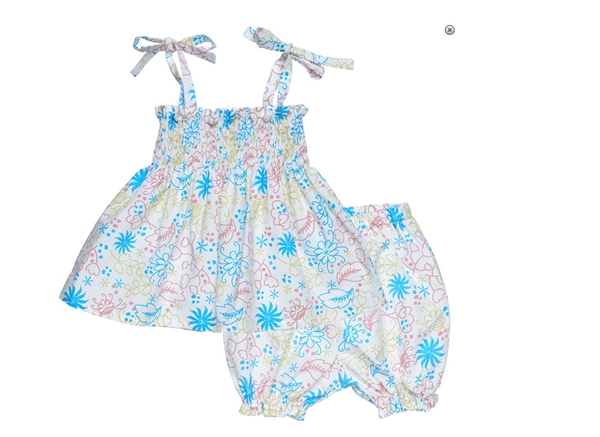 Organic Baby Clothes Top & Bloomer Outfit