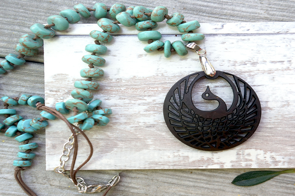 Rising Phoenix Necklace - is the symbol of rebirth.