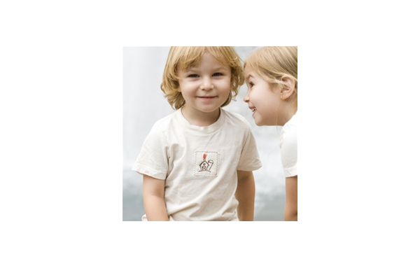 organic kids clothes - barn tee