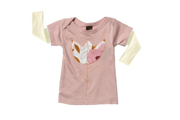 Zebi Organic Long Sleeve Shirt Flower- 6 months