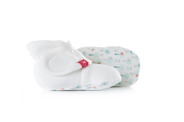 Organic Baby Booties - Goumi Giving Aqua
