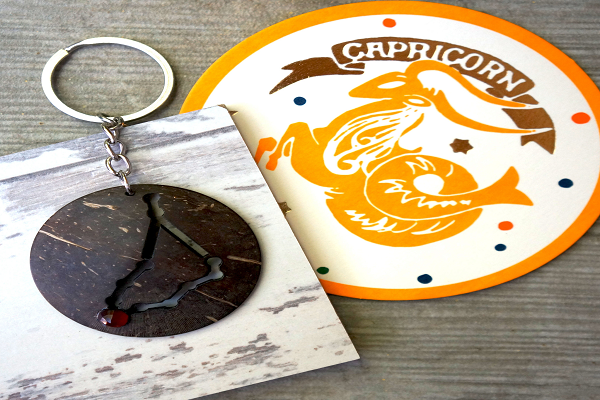 Capricorn Zodiac Keychain - is practical - SustainTheFuture.us - The Natural and Organic Way of Life