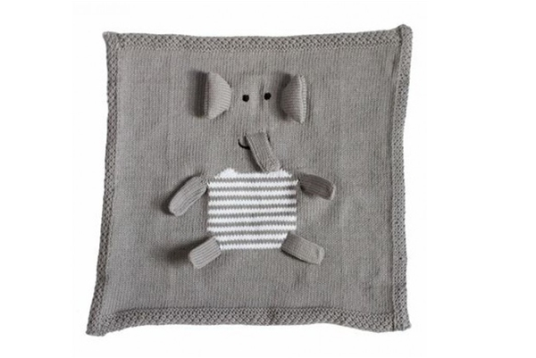 Organic Security Blanket - Gray Elephant Blankie