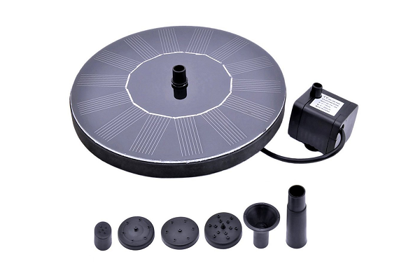 RockBirds PQ03 Solar Bird bath Fountain Pump with Power Panel Kit and Water Pump, Outdoor water fountains