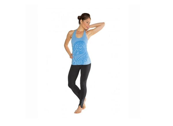 Organic Yoga Clothing - Tank Blue Mosaic