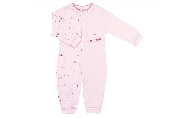 Organic Baby Clothes - Romper Follow Me Pink