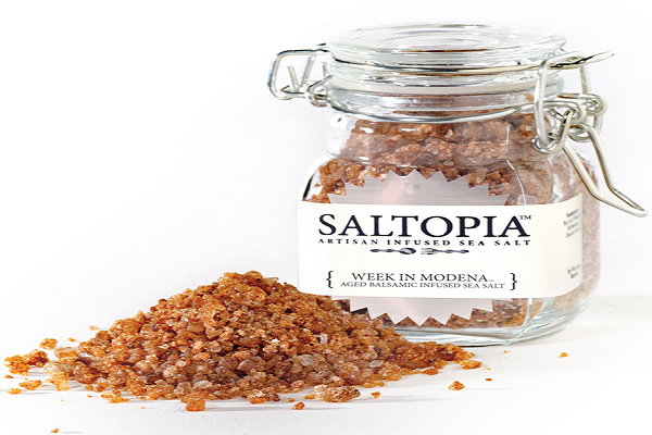 Aged Balsamic Infused Sea Salt SALTOPIA - SustainTheFuture.us - The Natural and Organic Way of Life