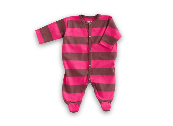 Organic Baby Clothes- Pink/Chocolate Footie