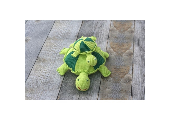 Organic Hand Crocheted Turtle Toy
