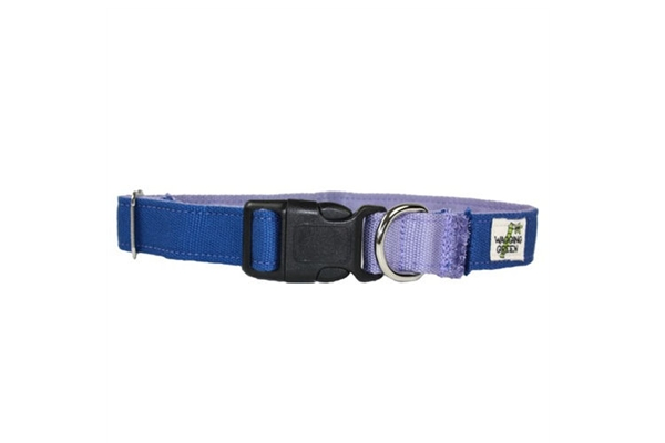 Bamboo Dog Collar Organic Dog Collar - Twighlight Spring Lilac - SustainTheFuture.us - The Natural and Organic Way of Life