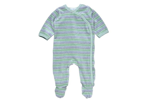 Organic Baby Clothes - Side Snap Footie - Sage Green