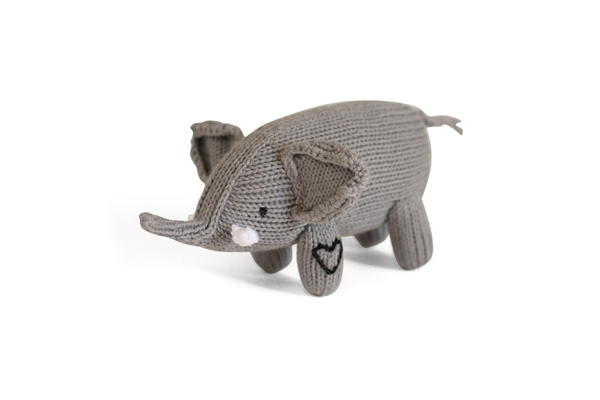 Just Cause Gifts - Organic Elephant Baby Rattle