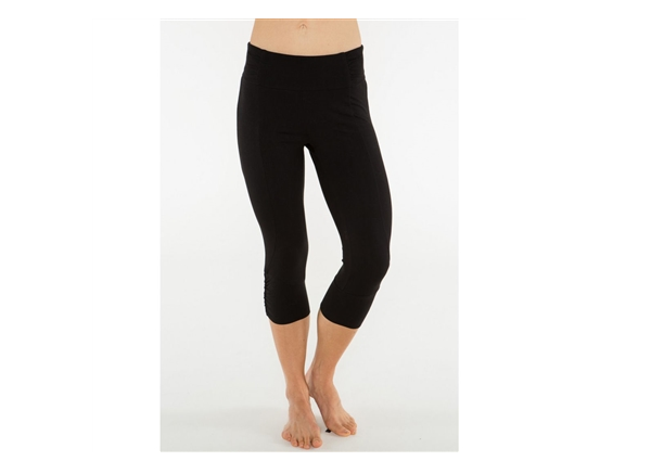 Organic Yoga Pants Capri Black