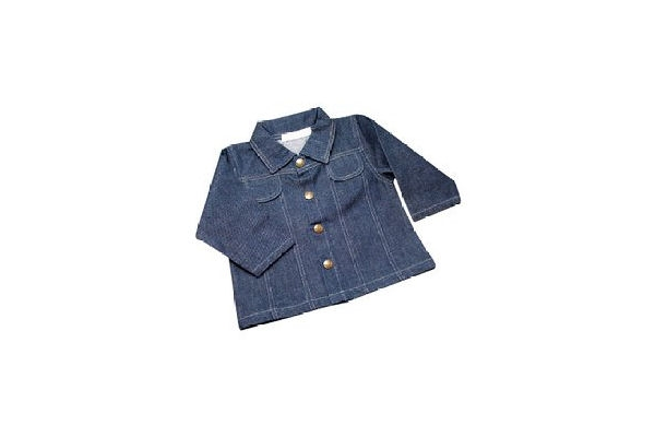 Organic Baby Jean Jacket - Dark Blue Denim