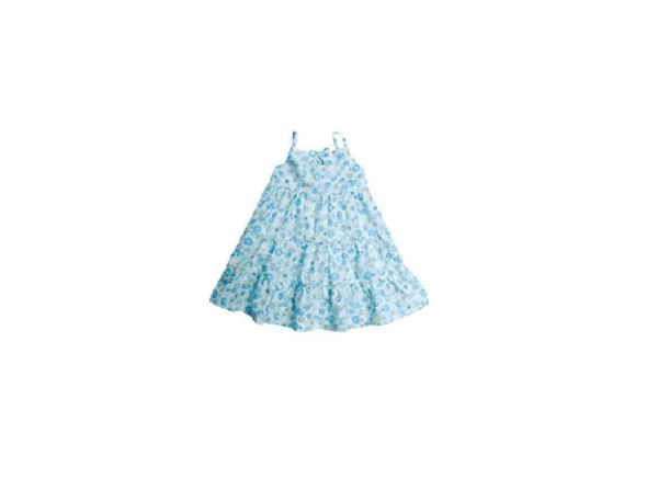 Organic Baby Clothes - 3 Tier Poplin Dress