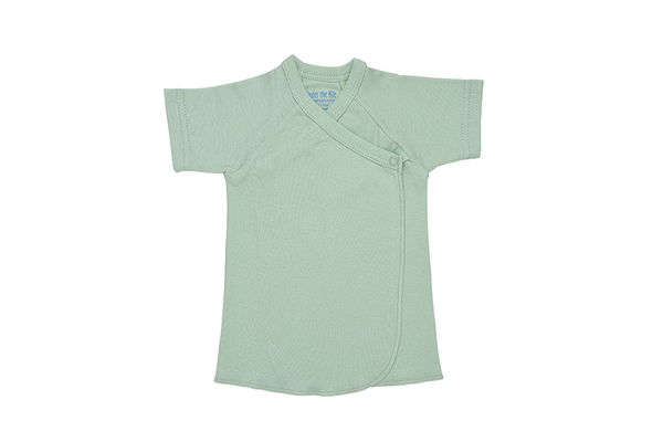 Under the Nile Organic Tee Shirt - Side Snap - Sage Green