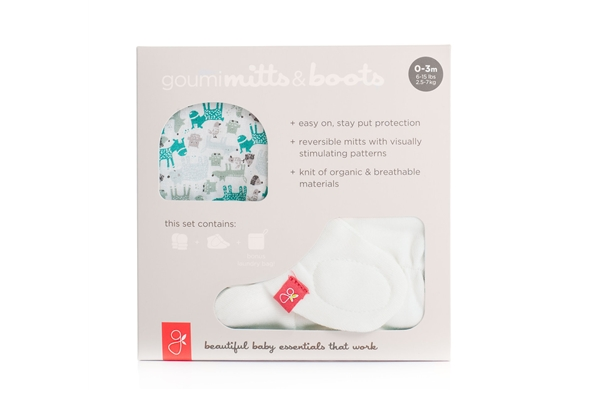 Organic Gift Set - Mits and Boots, Forest Friends