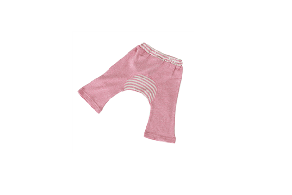 Organic Baby Clothes - Monkey Pant pink
