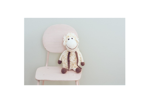 Hand Crocheted Baby Toys - Organic Stuffed Sheep