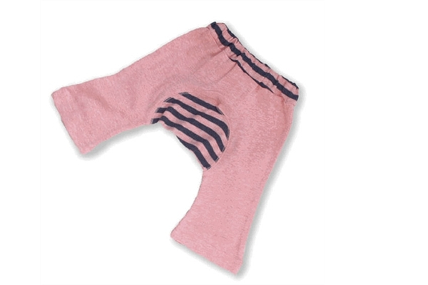 Organic Baby Clothes - Monkey Pant Pink/Blue
