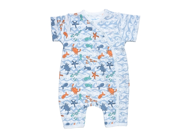 Organic Baby Clothes Romper - By The Sea