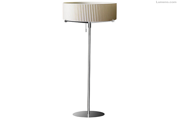 Aura Pleated Floor Lamp By Gabriel Teixido for Carpyen
