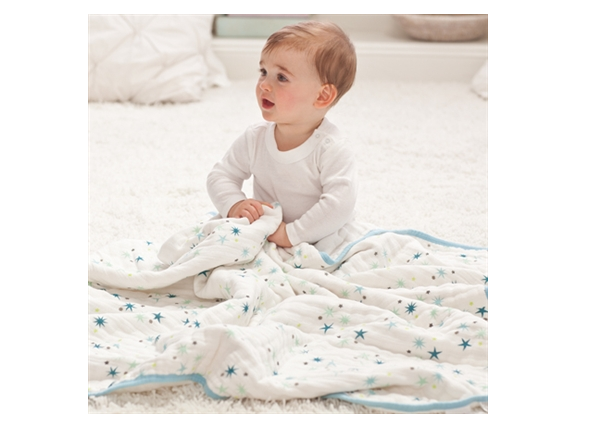 Aden & Anais Dream Blanket - Organic Baby Blanket - Great Playmat for Tummy Time! - SustainTheFuture.us - The Natural and Organic Way of Life
