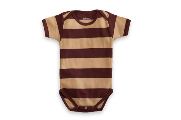 Organic Baby Clothes - T-Shirt Baby Body - Chocolate/Vanilla