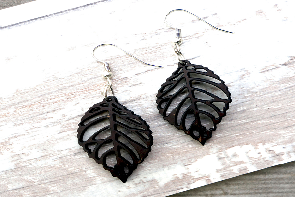 Coconut Leaf Earrings