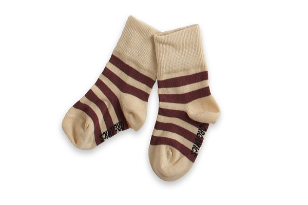 Organic Baby Socks - Chocolate Vanilla Stripe Socks
