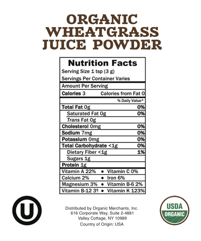 Organic Wheatgrass Juice Powder - 44lb Bag - Kosher, NON GMO, RAW, Vegan