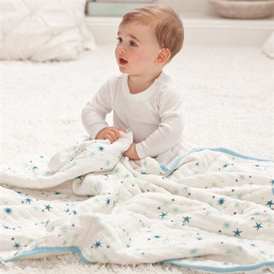 Aden & Anais Dream Blanket - Organic Baby Blanket - Great Playmat for Tummy Time!