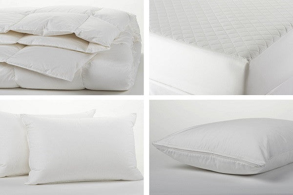 Organic Bedding Essentials Plus Set. All products are made with 100% organic cotton