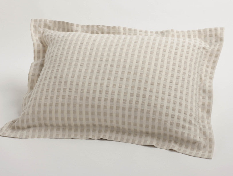 Cotton & Linen Birch. 100% organic cotton from India.
