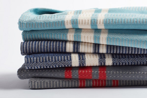 Cirrus Stripe Throw. 100% organic cotton is grown and woven in Germany. - SustainTheFuture.us - The Natural and Organic Way of Life