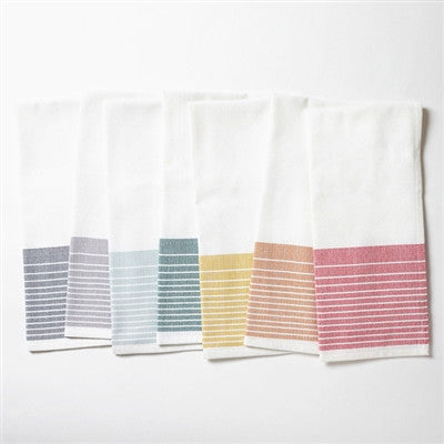 Organic Kitchen Towels - Stripe set of 7