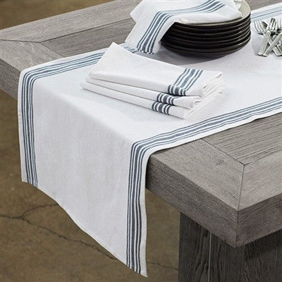 Farmhouse Stripe Collection - Organic Napkins and Runners - SustainTheFuture.us - The Natural and Organic Way of Life